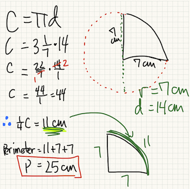 Semi-circle perimeter | MathVillage