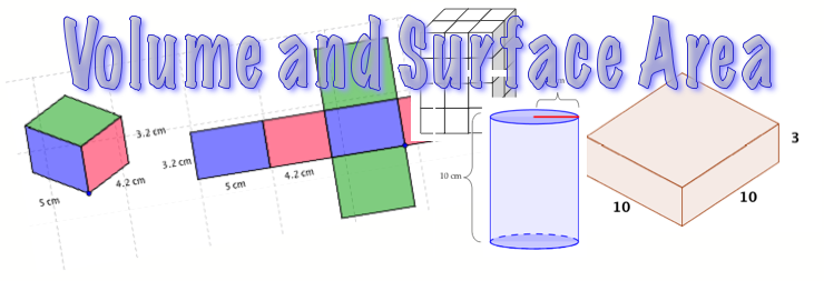 volume and surface area cylinder prism math video tutorials interactive applets