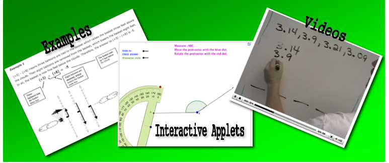 math videos interactive applets free worksheets